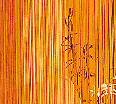 Provázková záclona Aga, oranžová, 150 x 250 cm