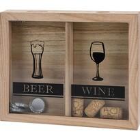 Dřevěná dekorace Drinks, 25,5 x 21,5 cm