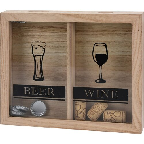 Decorațiune din lemn Drinks, 25,5 x 21,5 cm
