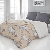 Kvalitex Saténové povlečení Luxury Collection Kenzo béžová, 140 x 200 cm, 70 x 90 cm