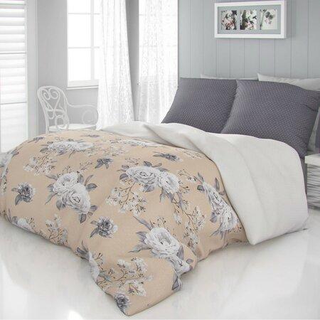 Kvalitex Saténové obliečky Luxury Collection Kenzo béžová, 140 x 200 cm, 70 x 90 cm