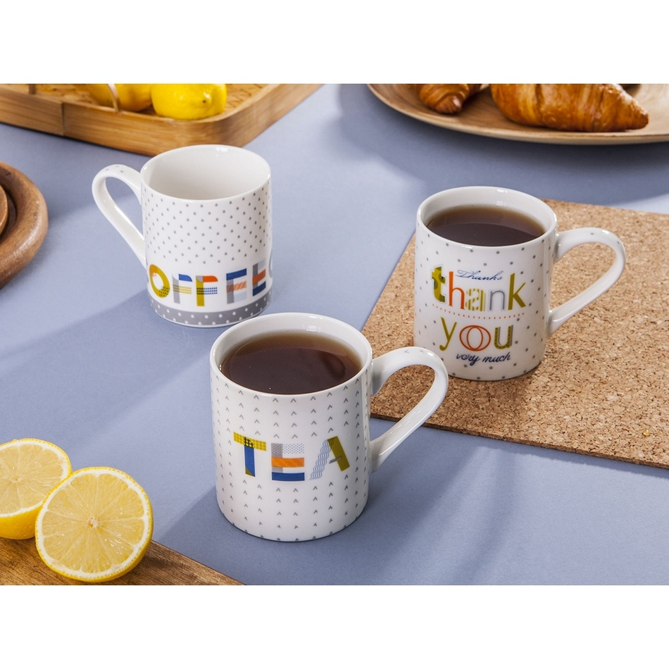 Altom Sada porcelánových hrnků Tea and Coffee 280 ml, 6 ks