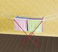Sušák na prádlo, asort, bílá, 108 x 50 x 180 cm
