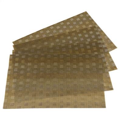 Prostírání Grid béžová, 30 x 45 cm, sada 4 ks