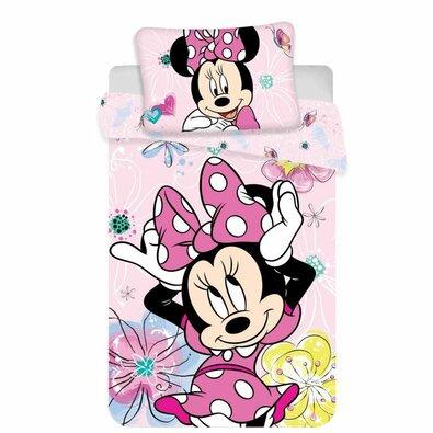 Bawełniana pościel dziecięca do łóżeczka Minnie butterfly 02 baby, 100 x 135 cm, 40 x 60 cm