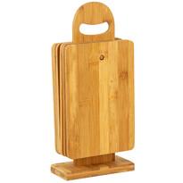 EH 7-częściowy komplet desek do krojenia na stojaku Bamboo
