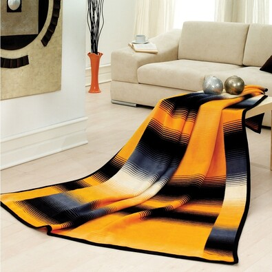 Přehoz na křeslo Amaro žlutá, 70 x 160 cm
