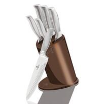 Berlinger Haus 7-częściowy zestaw noży w stojaku Rose Gold Metallic Line