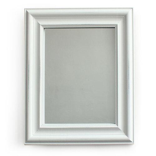 Zrkadlo v drevenom ráme Caruso, biela, Dakls