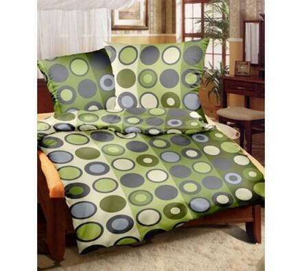 Flanelové povlečení zelené, 140 x 220 cm, 70 x 90 cm