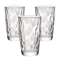 Bormioli Rocco Zestaw 3 szklanek na long drink Diamond 470 ml