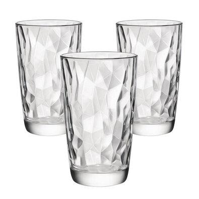 Bormioli Rocco 3-dielna sada pohárov na long drink Diamond 470 ml