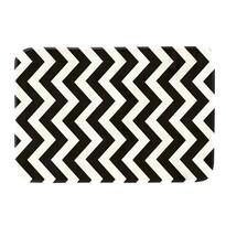 Covoraș din spumă cu memorie Domarex Noir and Blanc, alb-negru, 50 x 80 cm
