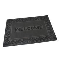 Kültéri kefés lábtörlő Welcome - Leaves, 40 x 60 cm