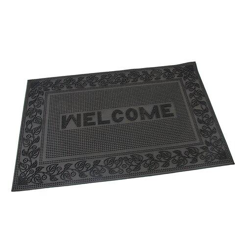 Flomat Vonkajšia rohožka kefová Welcome - Leaves, 40 x 60 cm