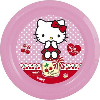 Banquet Hello Kitty plastový talíř 22 cm