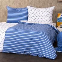 4Home Bavlnené obliečky Pruhy modrá