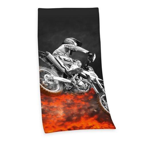 Ręcznik kąpielowy Motorcycle, 75 x 150 cm