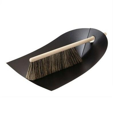 Lopatka a smetáček Dustpan & Broom, černá