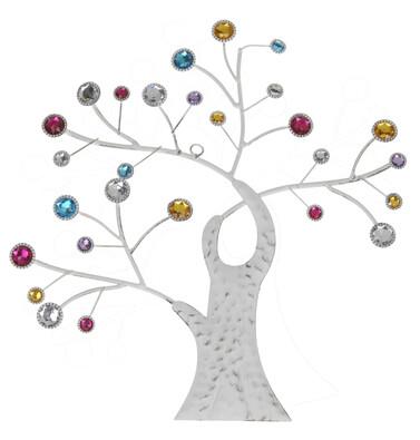 Dekorace na zeď strom barevná