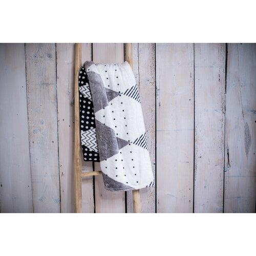 Pătură XXL / Cuvertură de pat Triangle grey, 200 x 220 cm