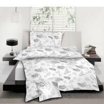 Bavlněné povlečení Listy šedá, 140 x 200 cm, 70 x 90 cm, 40 x 40 cm