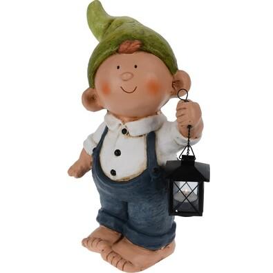 Trpaslík Chlapec s lucernou, 46 cm