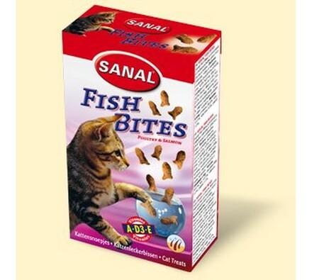Sanal křupavé rybičky drůbeží a losos SANAL, 75g