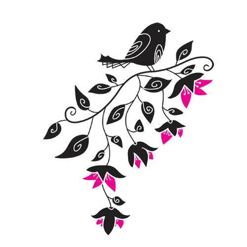 Samolepiaca dekorácia vtáčik