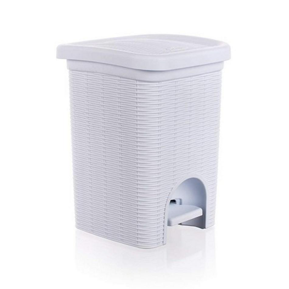 Koš koupelnový 6 L Ratan bílý