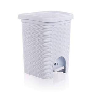 Rattan Elegance Line koupelnový koš bílý