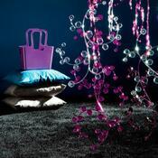 Dekorace závěs Antoinette fialová