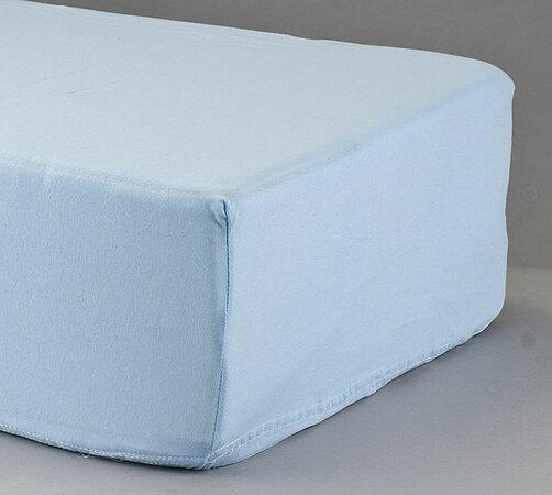 Prostěradlo žerzej, modrá, 2 ks 90 x 200 cm