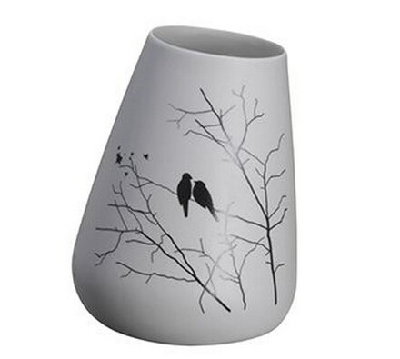 Madam Stoltz Keramická váza s ptáčky