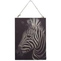 Obraz na dřevě Zebra, 28,5 x 20,5 cm