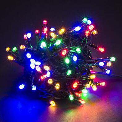 Vánoční světelný řetěz, barevný, 80 LED