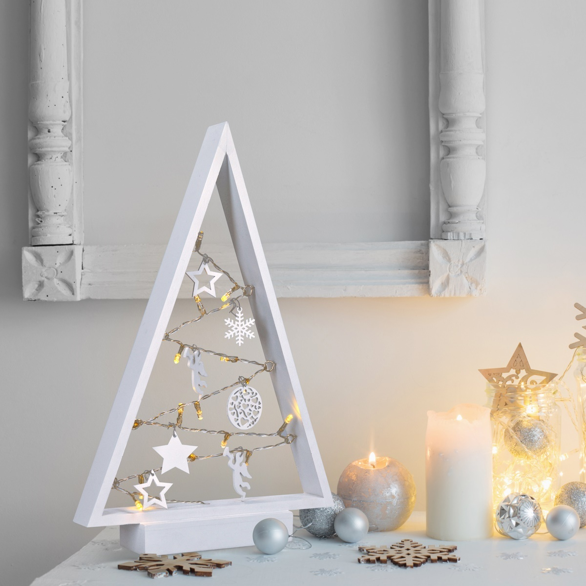 Solight Vánoční stromek 15 LED diod, teplá bílá