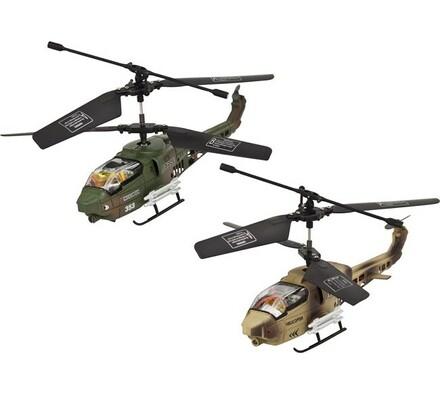 Vnitřní tříkanálový 17 cm vrtulník, 2ks, Buddy Toy, vícebarevná
