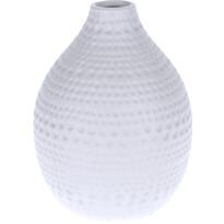 Koopman Asuan kerámia váza, fehér, 17,5 cm