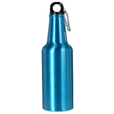 Sportovní hliníková láhev s uzávěrem 600 ml, modrá