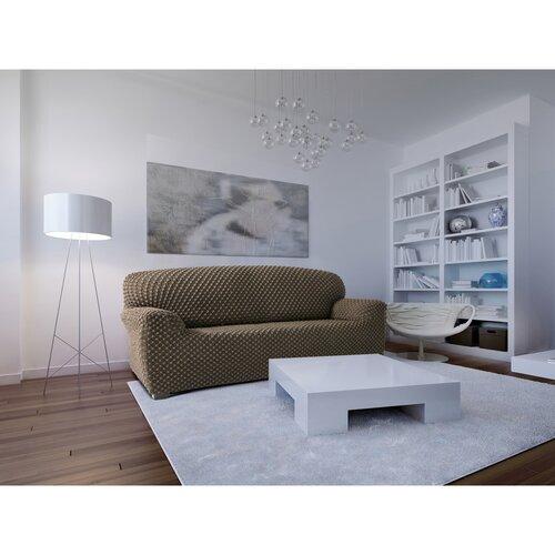 Contra multielasztikus kanapéhuzat bézs színű, 220 - 260 cm