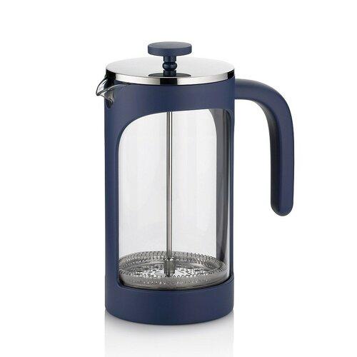 Kanvička na čaj a kávu VERONA French Press 1 l modrá