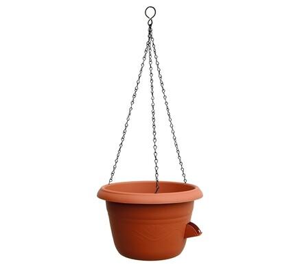 Samozavlažovací závěsný květináč 30 cm terakota