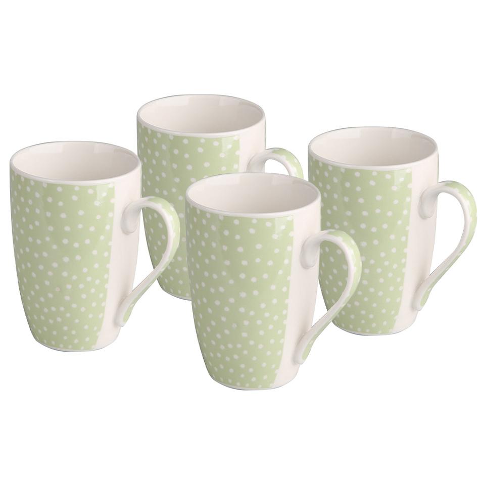Altom Sada porcelánových hrnčekov zelená 320 ml, 4 ks