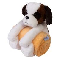 Pătură de copii Carol, cu jucărie din pluș câine, 85 x 100 cm