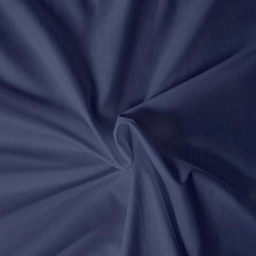 Cearşaf din satin, albastru închis, 100 x 200 cm