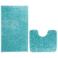 AmeliaHome Sada koupelnových předložek Bati modrá, 2 ks 50 x 80 cm, 40 x 50 cm