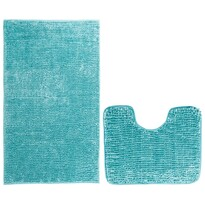 AmeliaHome Set de covorașe baie Bati albastru, 2 buc 50 x 80 cm, 40 x 50 cm