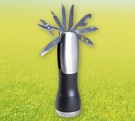 Kapesní svítilna s multifunkčním nožem