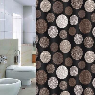 Sprchový záves Pesaro hnedá, 180 x 200 cm